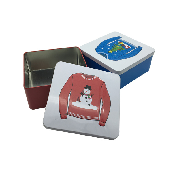 Embossing Square Tin Container Tin Can Wholesale Tin Box