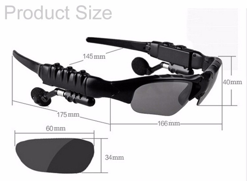 Bluetooth Sunglasses Sun Glasses Wireless Headset Stereo Headphone with Mic Handsfree