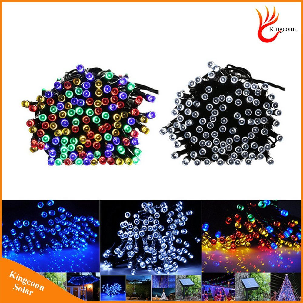 Solar LED String Light Lamp 200LED 22m and 100LED 12m Christmas Garden Party Wedding Decoration Lighting RGB Colorful Lights