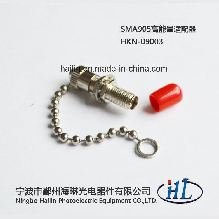 High Power Fiber Optic SMA905 Adaptor with Chain Dust Cap