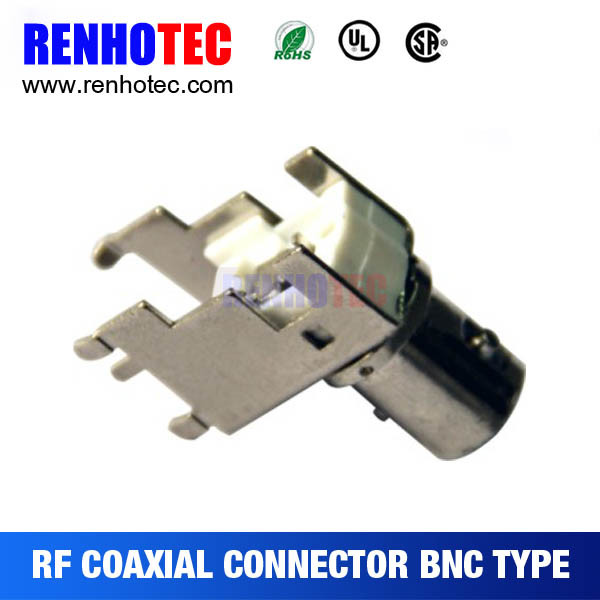 Zinc Alloy BNC Female Coaxial PCB Mount Connector