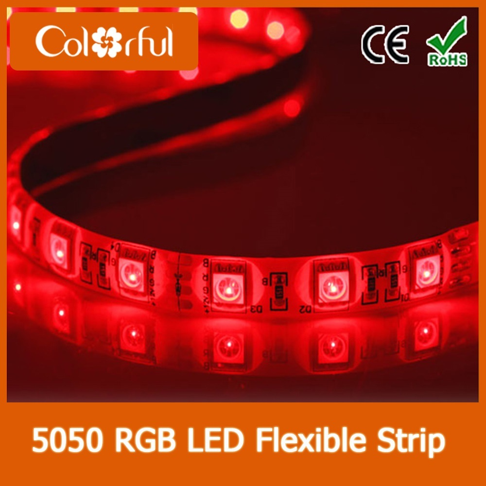 Long Life High Brightness DC12V SMD5050 LED Robbin Strip Light