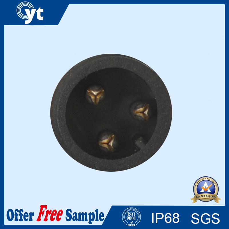 3 Pin Black Male Female Waterproof Connector Cable for LED Lighting
