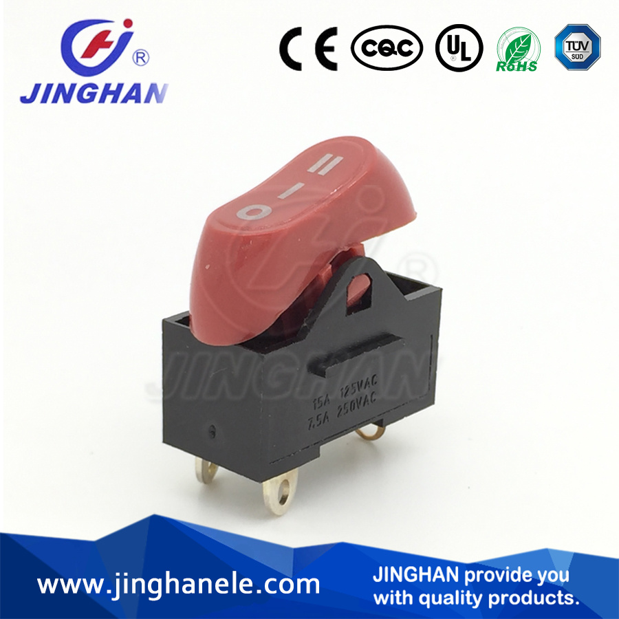 Tripod Boat Shaped Switch Hair Dryer Rocker Switch on-off-on Switch 3pin