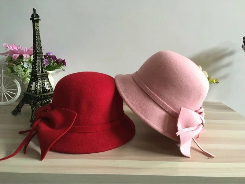 Fashion Wool Lady Hat Bucket Leisure Cap for Woman