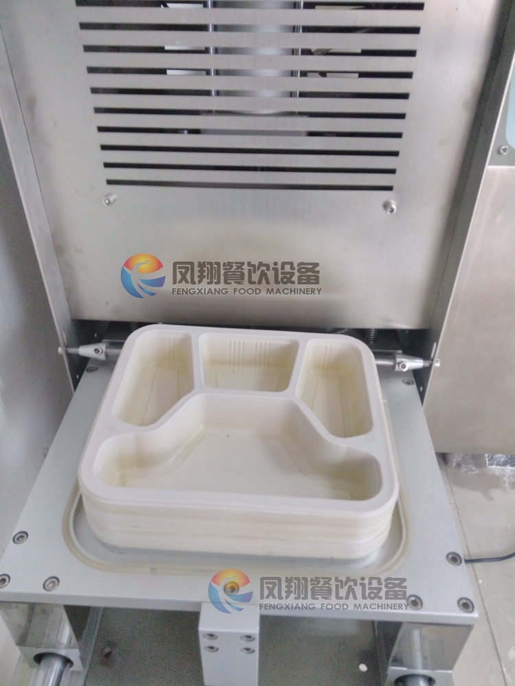 Industrial Vertical Automatic Fast Food Box Cup Trays Sealer Sealing Packing Machine