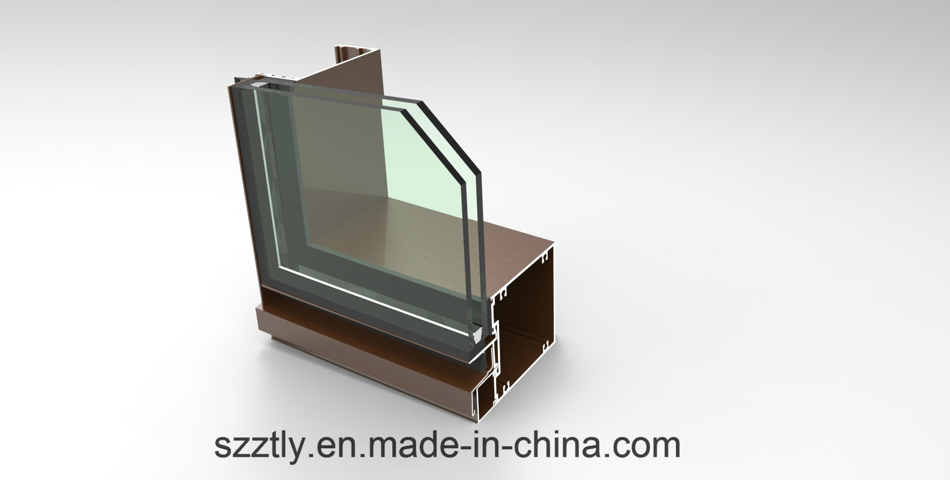 Customized Optional Colored Aluminum Extrusion Parts for Windows/Doors/Chairs/Curtain Wall Profile