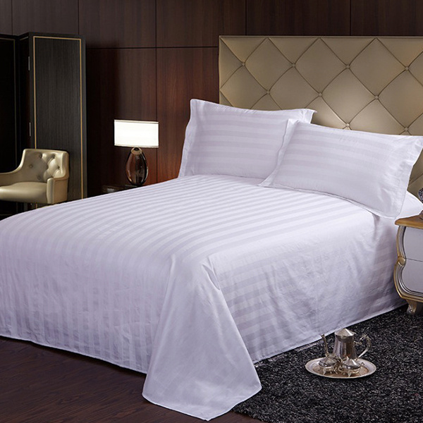 Hot Sales Hotel Hospital Cotton Stripe Bed Cover Set/Duvet Cover