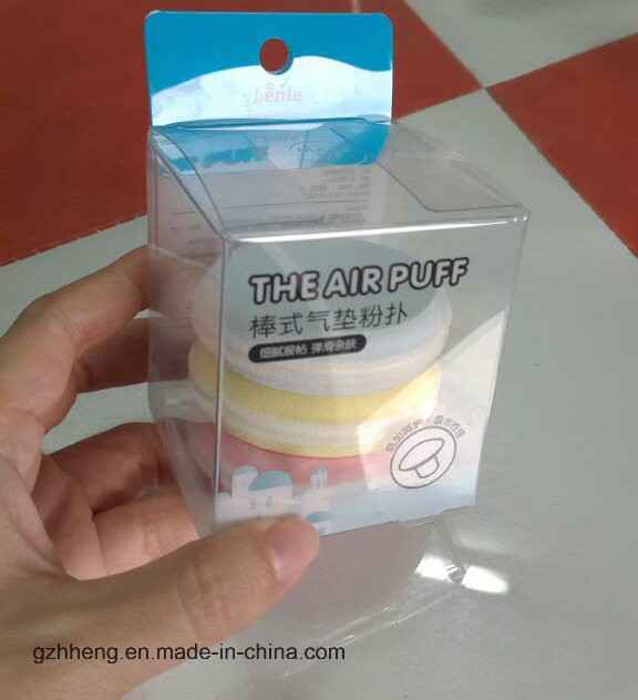 OEM plastic box for Sponges (PVC puff package)
