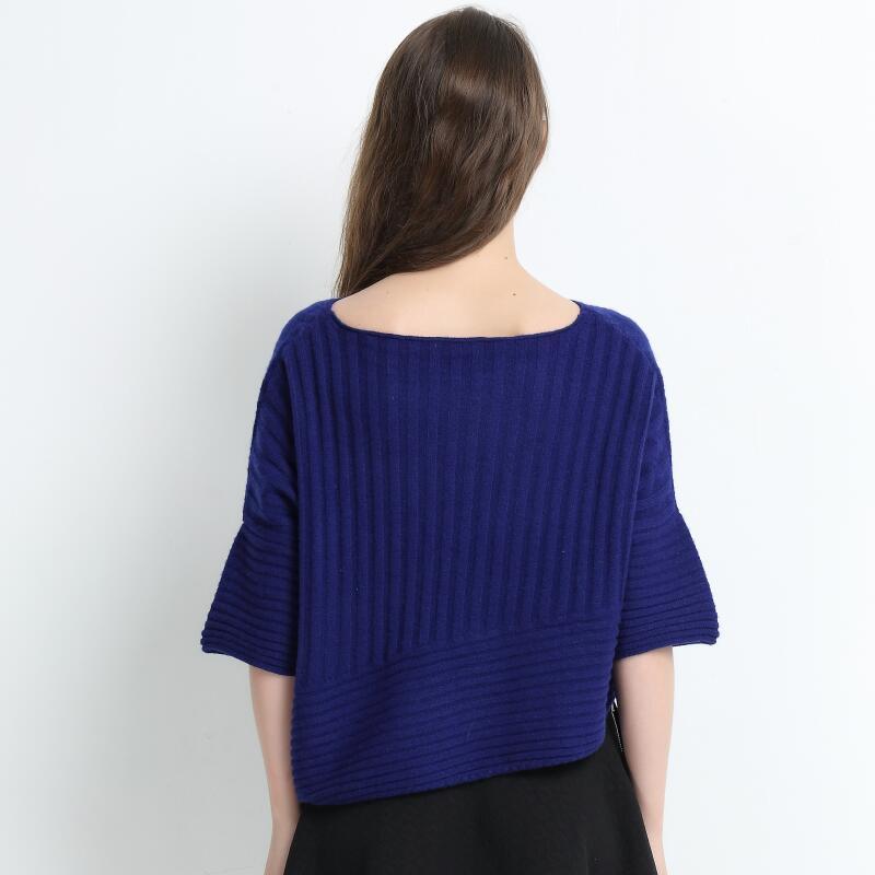Women Blue Color Large Size Pure Cashmere Apprael