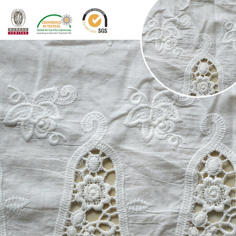 Fashion Funnel Pattern Lace Fabric Material 2017 E30014