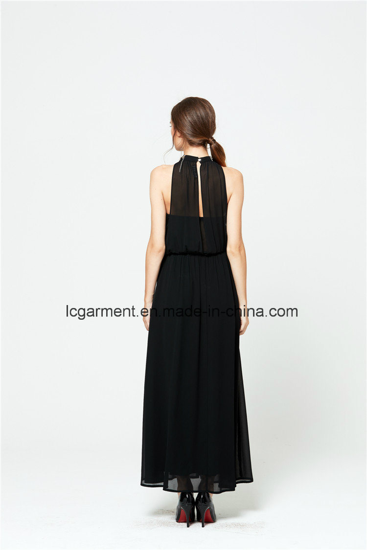 Summer New Style Sexy Chiffon Halter Neck Long Woman Dress