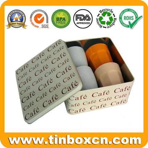 Rectangular Gift Tin Box for Metal Watch Box Packaging