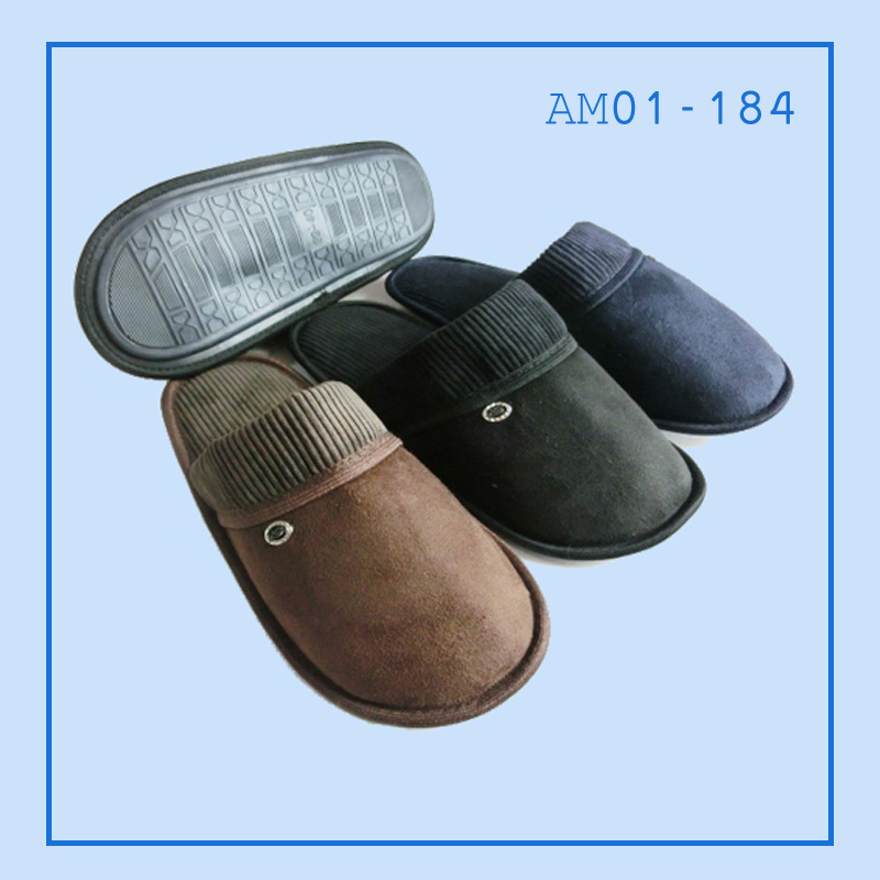 New Men Warm Soft Indoor Bedroom Slippers for Winter