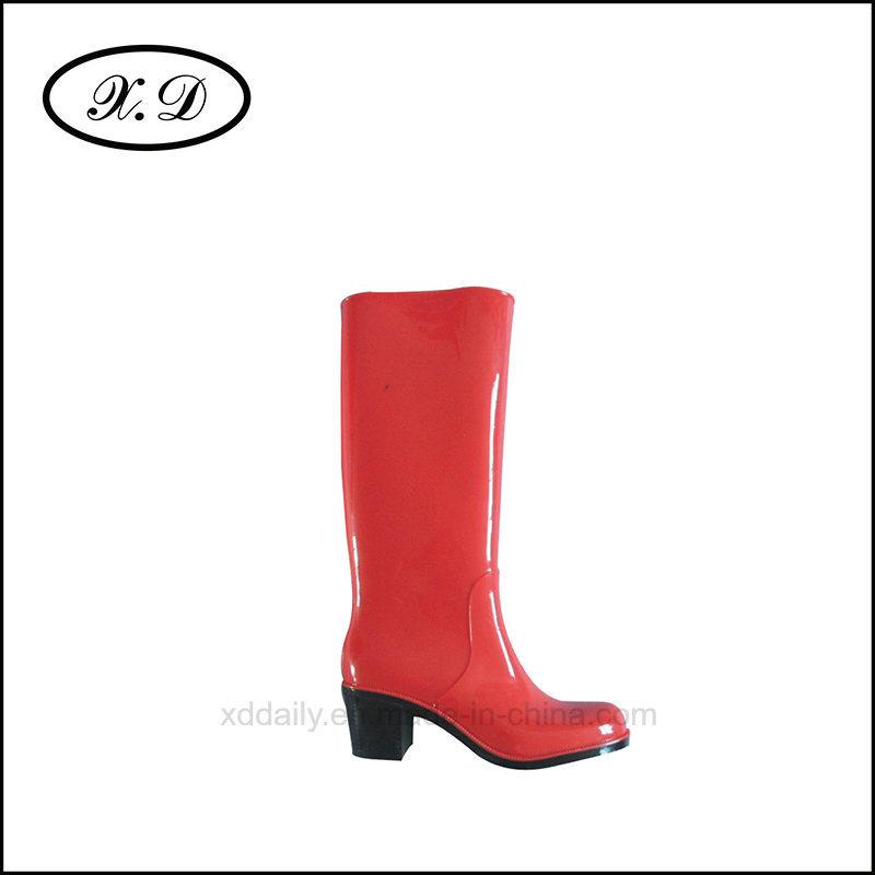 Fashion Rain PVC Boots for Ladies (BX-028)