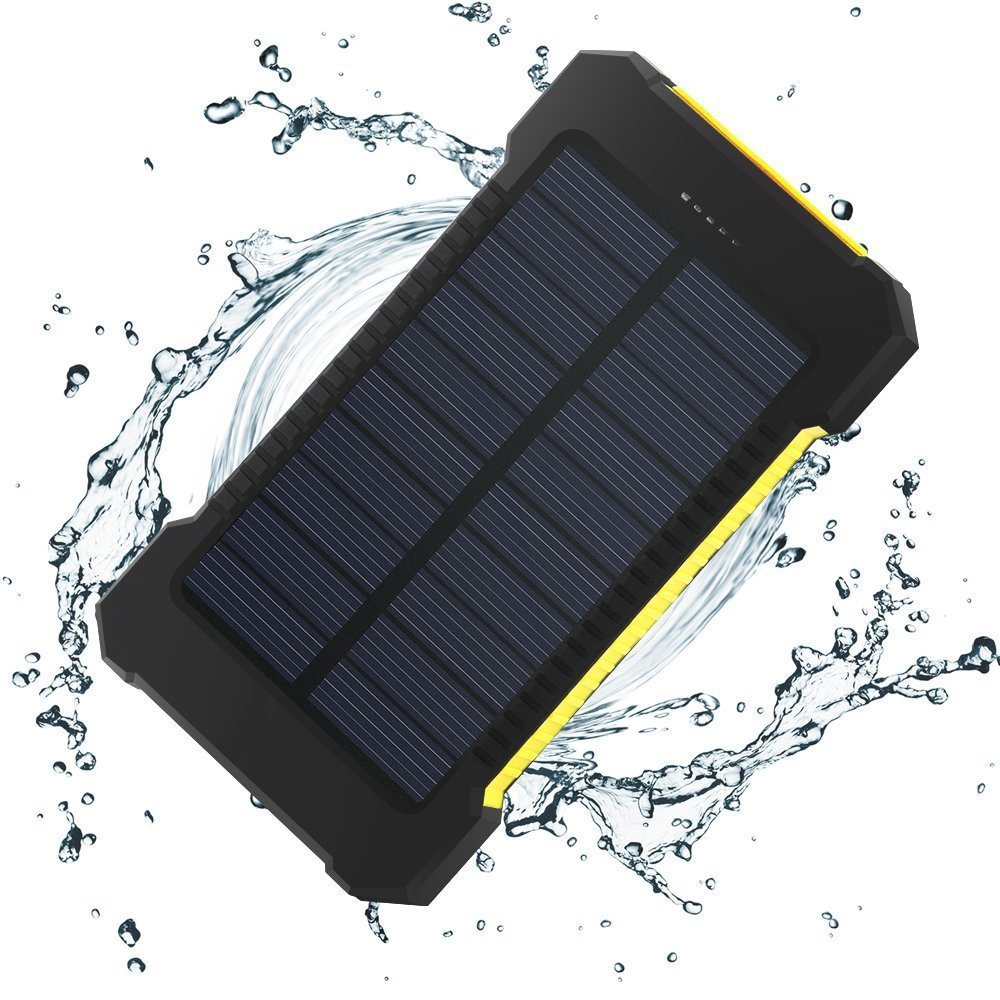 Hiqh Quality Waterproof Solar Power Bank 10000mAh, Solar Power Bank Charger 8000mAh for iPhone Samsung HTC