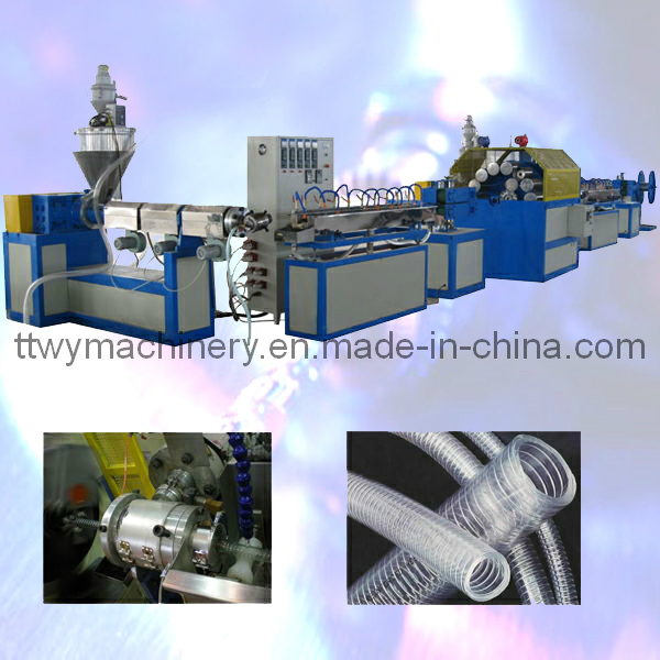 Plastic PVC Spiral Steel Wire Reinforced Hose Making Machine (TGSZ-25)