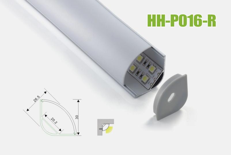 Hh-P016-R Corner LED Aluminum Profiles