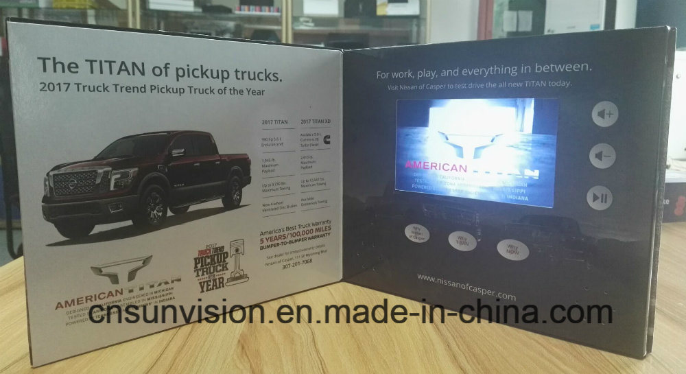 """5""""LCD Screen Advertising Brochure Car Promotion Gift Card"""