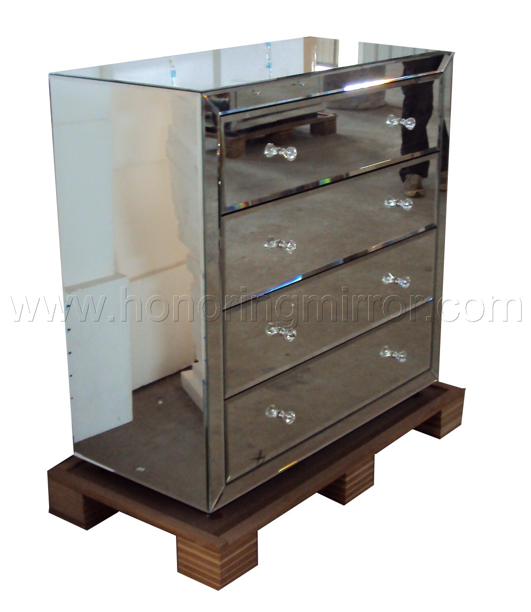 China mirrored furniture crmf 204 china furniture glass furniture Mirror glass furniture