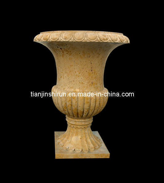 Travertine Stone Urn, Marble Vase (VS348)