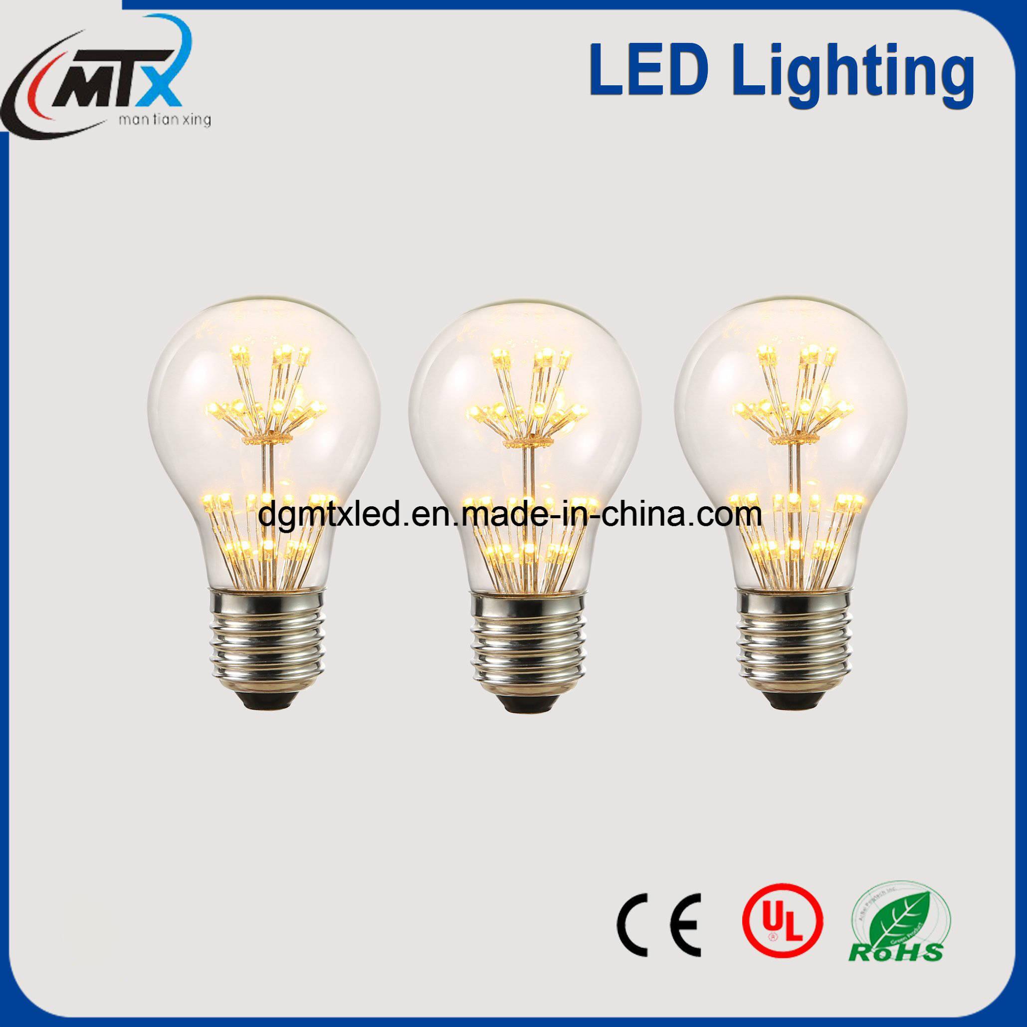 MTX New LED Bulb Retro E27 3W Starry Light bulb Series 110V/220V
