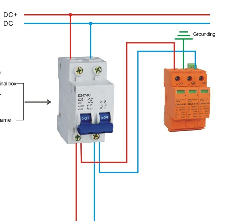 how to connect surge protection device
