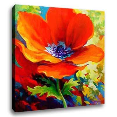 China flower oil painting c0003 china flower oil for Simple flower paintings for beginners