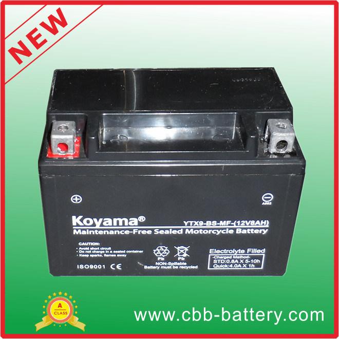 12V8ah Ytx9-BS-Mf Maintenance Free Motorcycle Battery