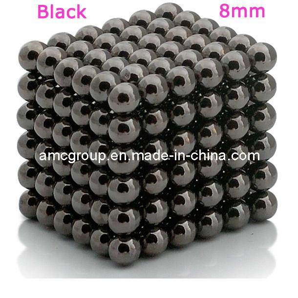 Neodymium Sphere Magnet with Black Nickel Coating