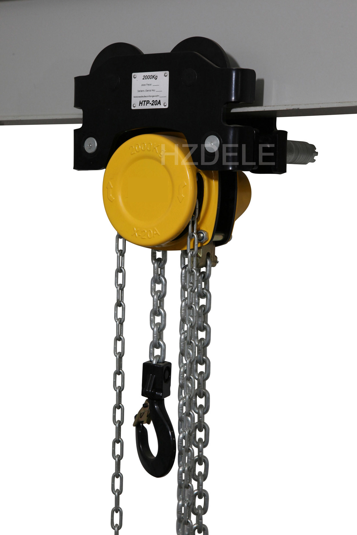 Chain Pully Block with Hand Push Trolley From 0.5ton to 5ton