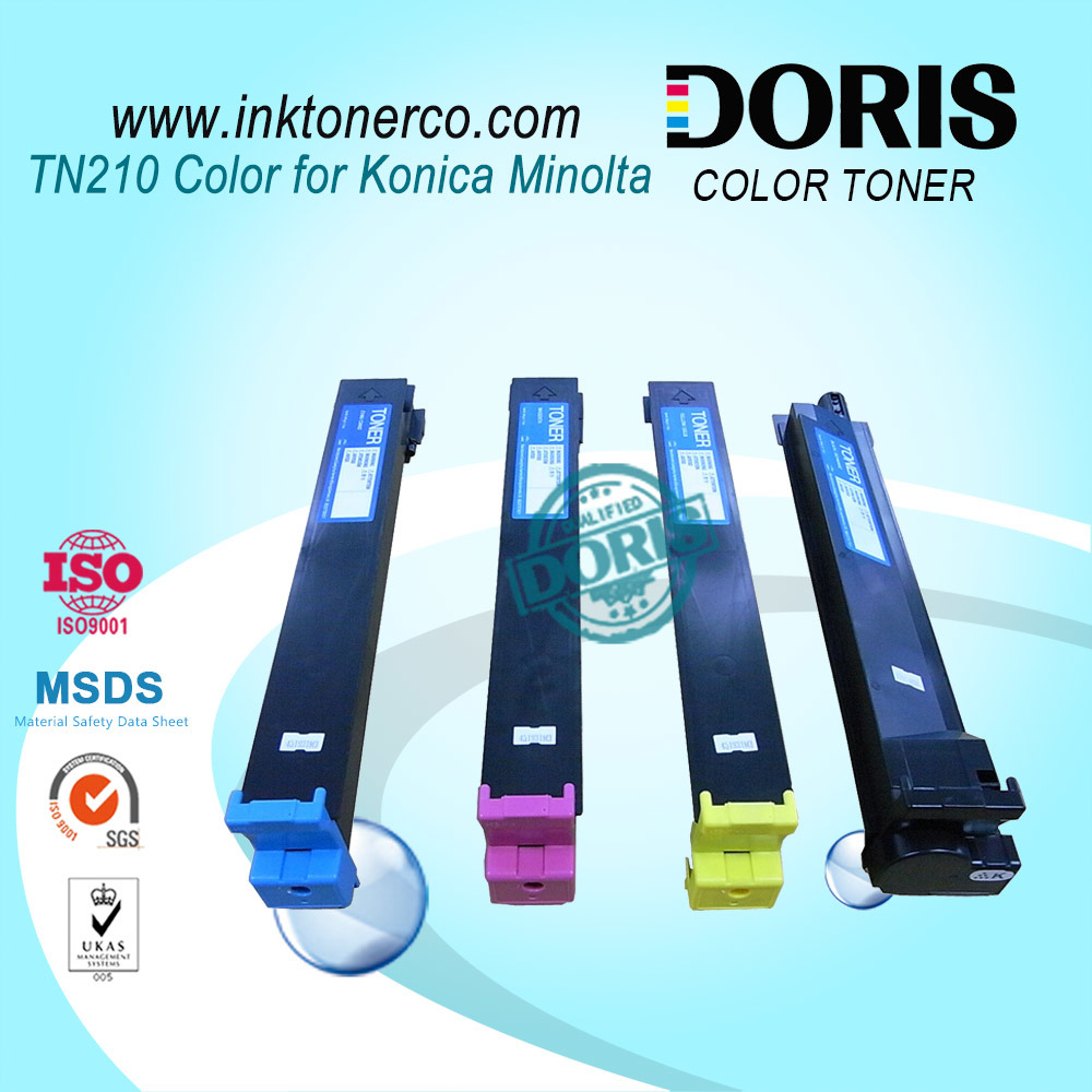 Compatible Toner Cartridge Tn210 Color Copier for Konica Minolta Bizhub C250 C252 C250p C252p