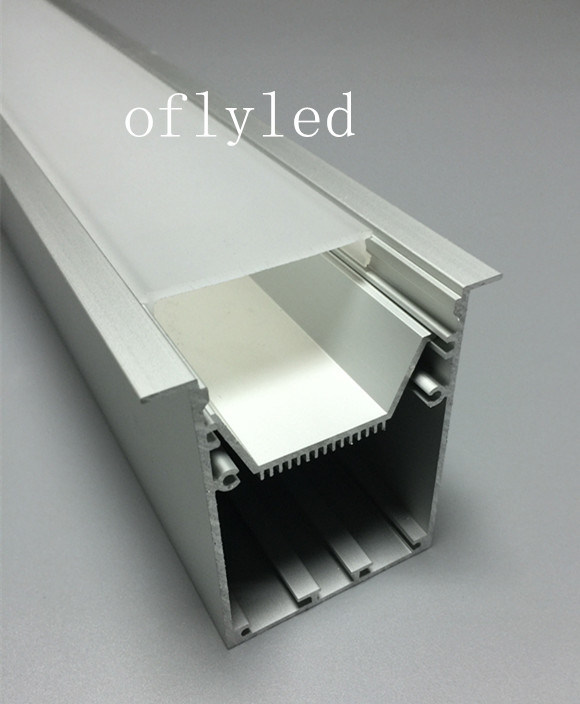 Large Recessed LED Aluminum Profile for Ceiling Lights