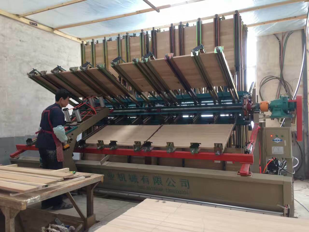 Furniture Manufacturing Wood Board Jointing Machine Jointer/ Composer/ Clamp /Fixture Carrier with Hydraulic Press