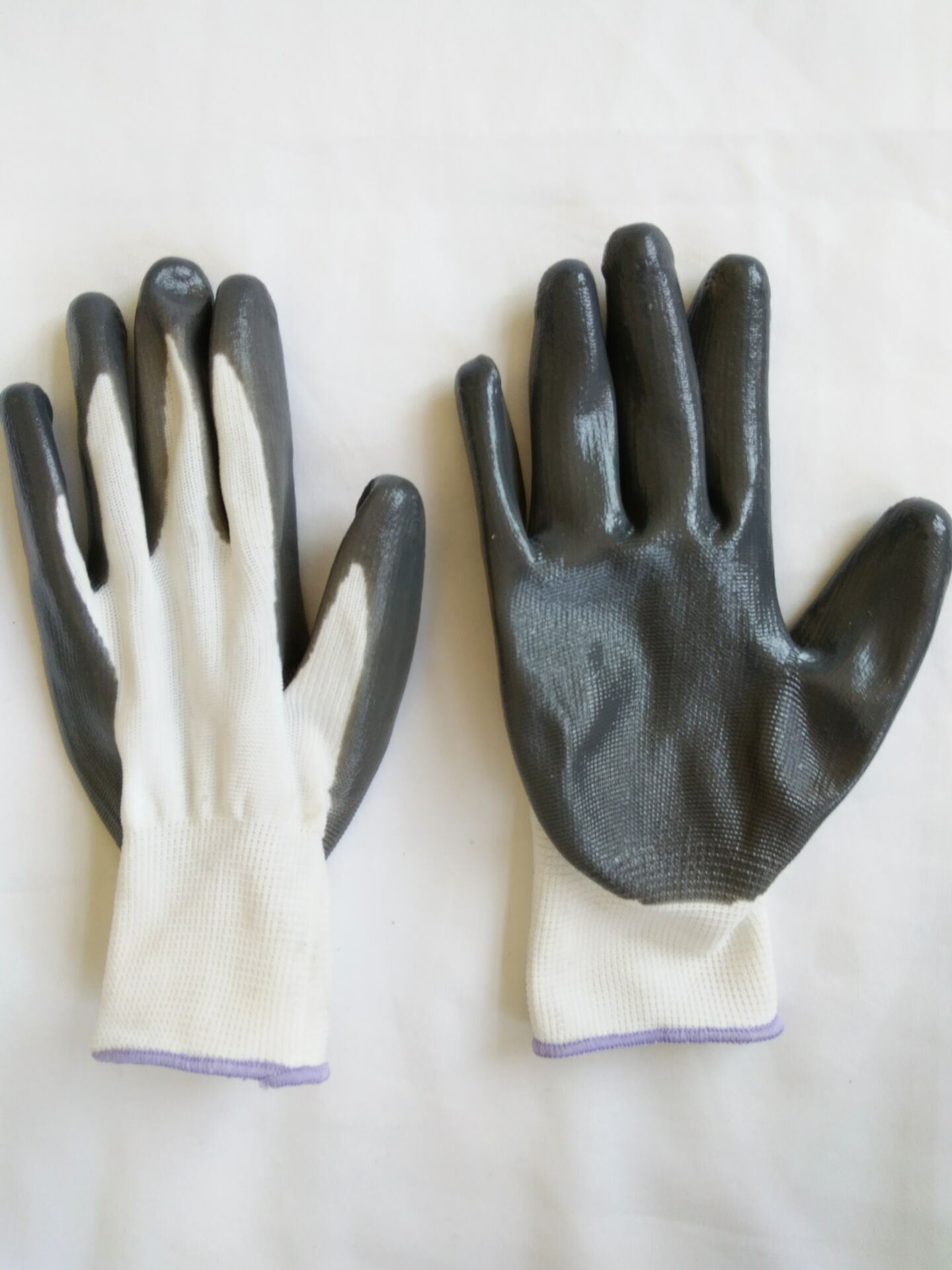 13G Polyester Shell Nitrile Coated Safety Work Gloves (N6007)