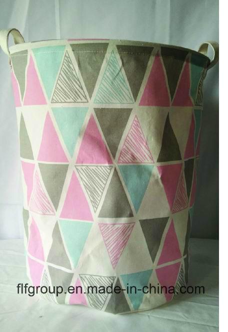 Eco-Friendly Customized Durable Foldable Fabric Storage Basket for Laundary