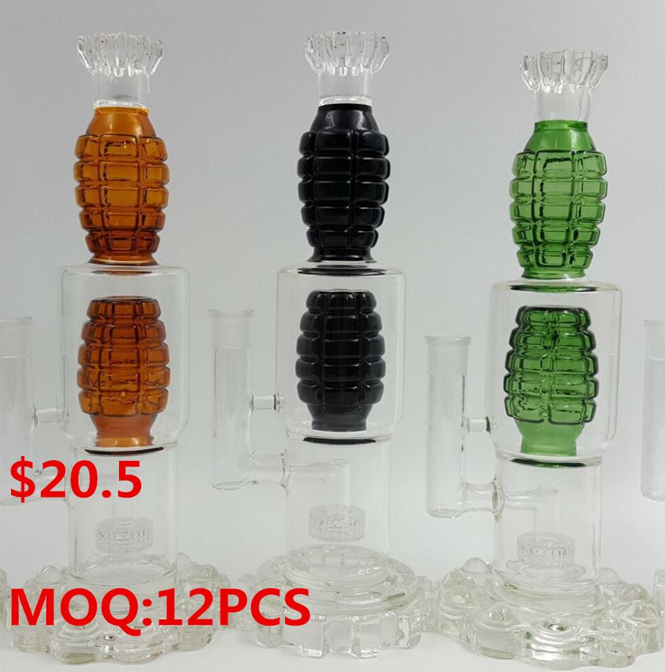 Heavy Grenade Glass Water Pipe Smoking Pipe for Smoking Set