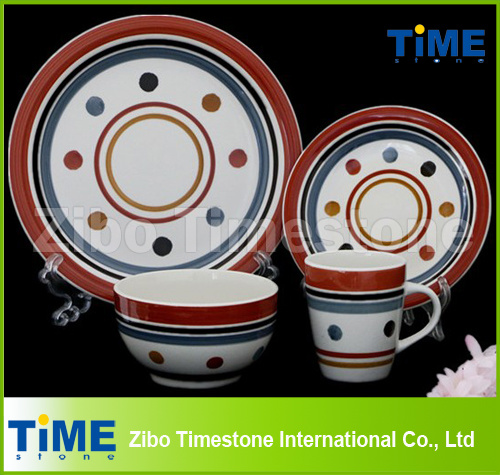 Wholesale Custom Ceramic Hand Printed (Painted) Stoneware Dinnnerware