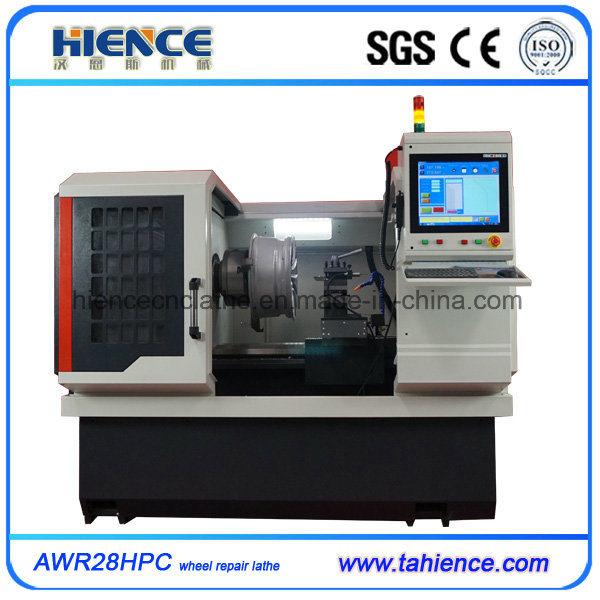 PC Type Diamond Cut Alloy Wheel Repair CNC Lathe Machine