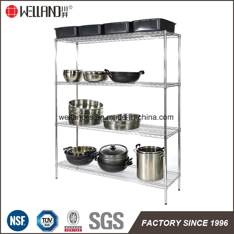 4 Layers 350kg Heavy Duty Restraurant Catering Stainless Steel Kitchen Bakeware Storage Industrial Wire Shelf Shelving