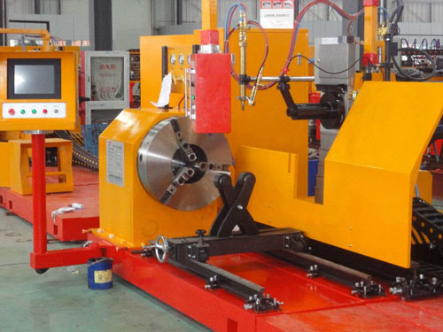 Steel Tower Structuer CNC Pipe Profile Cutting Machine