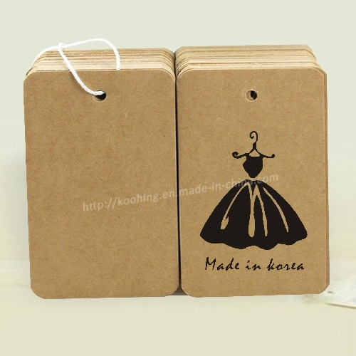 Brown Kraft Paper Hang Tag Label for Garment