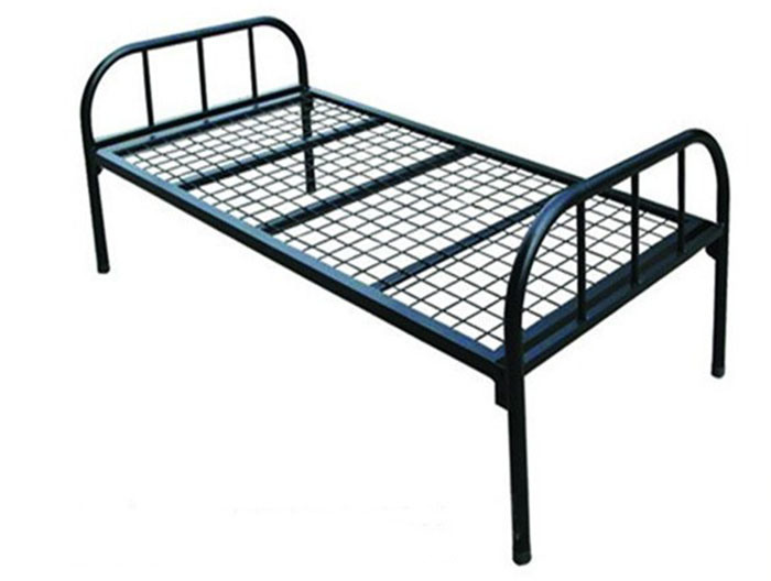 School Furniture Dormitory Steel Frame Single Bed