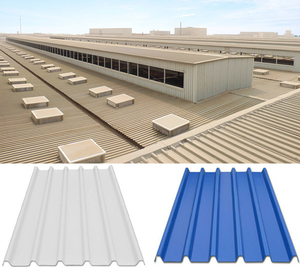 Color Coated Corrugated UPVC Roofing Panel