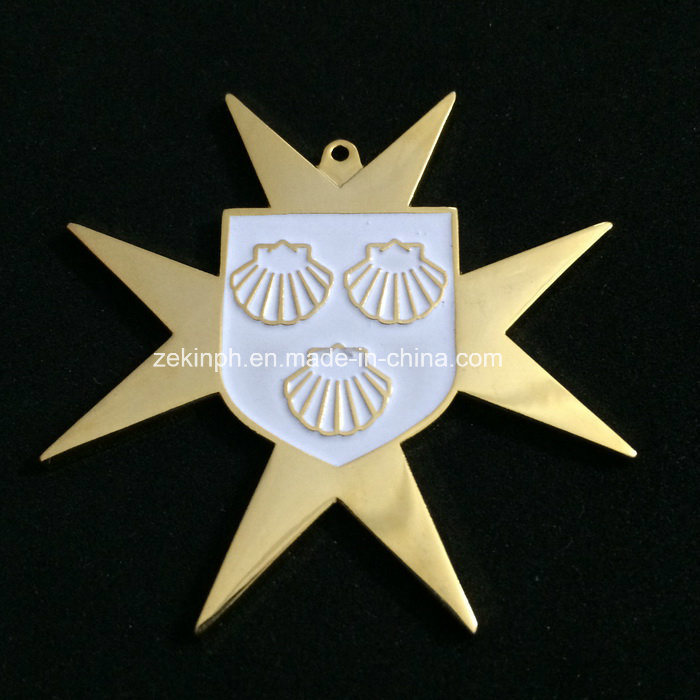 Custom Solid Golden Vice President Metal Medals for Recognition
