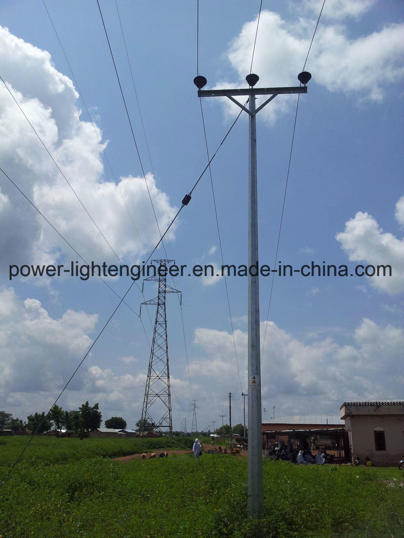 Hot DIP Galvanization Electric Power Steel Tubular Pole