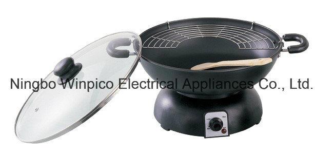 35-Qt Capacity Electric Wok and Deep Fryer