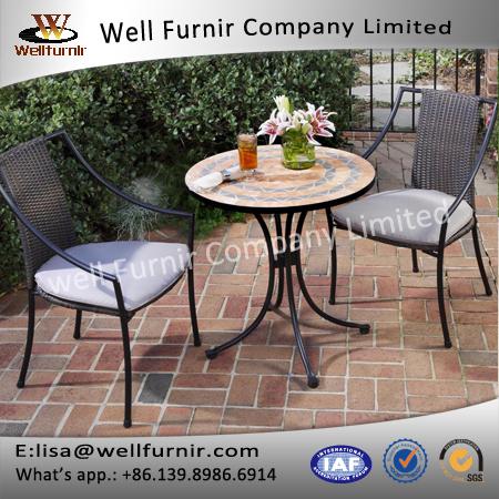 Outdoor&Indoor Home Styles Terra Cotta Mosaic 3 Piece Bistro Set Furniture