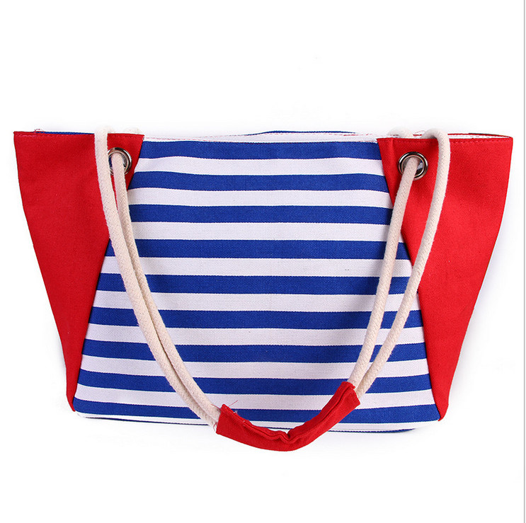 The New Female Bag Summer New Canvas Beach Bag Shopping Bag