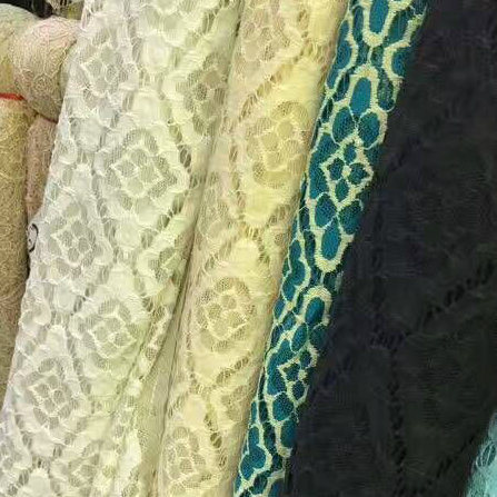 Hot Sale Nylon Polyester Lace Fabric (Eco Friendly dyeing)